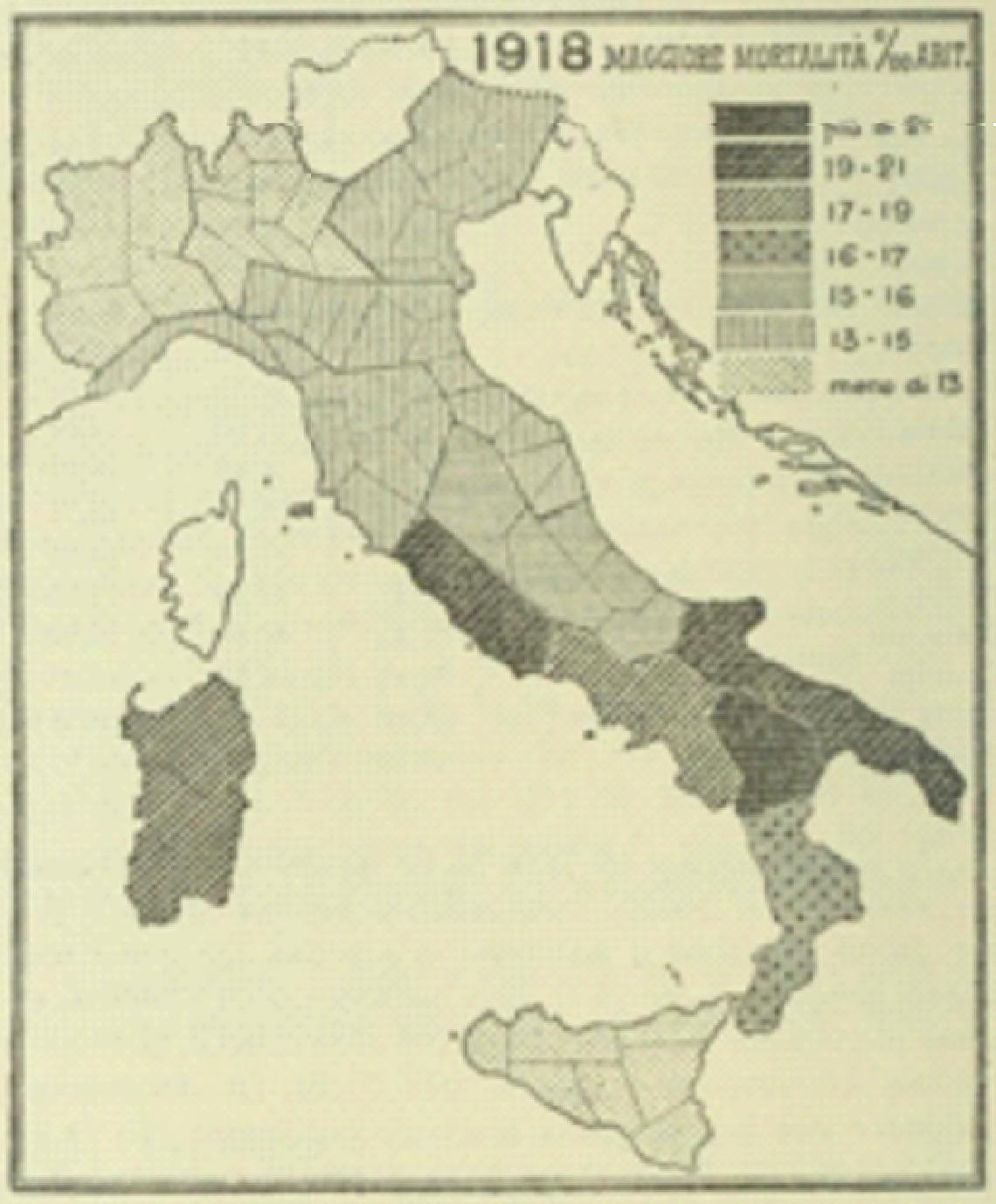 Cartina Italia Anno 500.1918 1919 La Spagnola In Italia Vaccinarsi